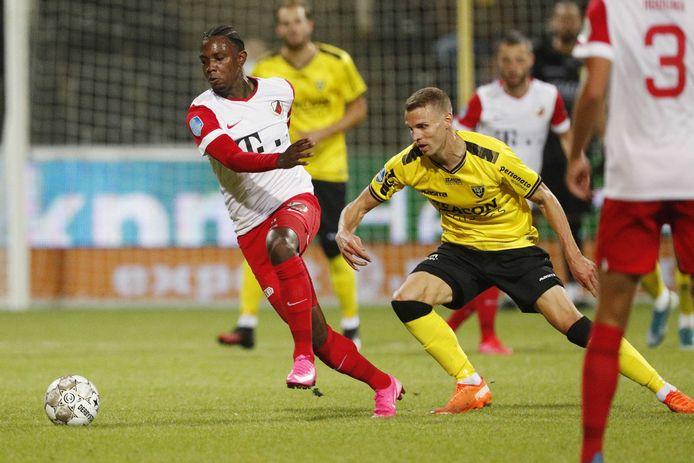 Eljero Elia viel pas in de 81ste minuut in bij VVV-Venlo - FC Utrecht (1-1).