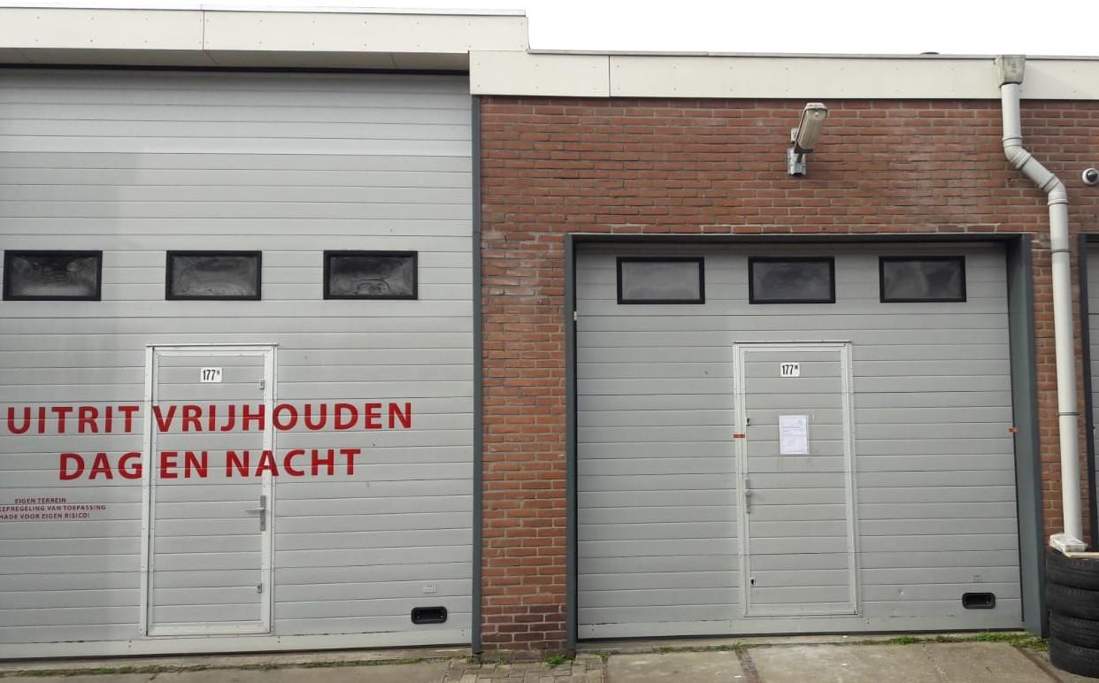 Het gesloten pand in Zegveld.