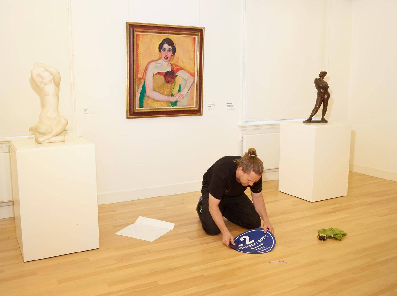 Museum de Fundatie bereidt zich voor op de heropening. Beeld Henk Wildschut