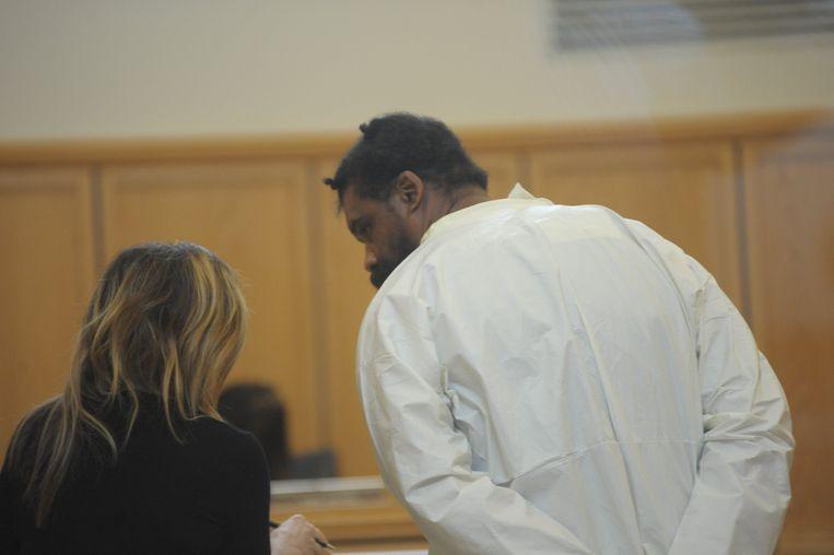 Grafton Thomas (rechts) in de rechtbank.