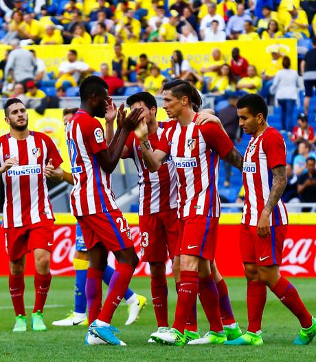 Atlético steviger derde na ruime zege op Las Palmas