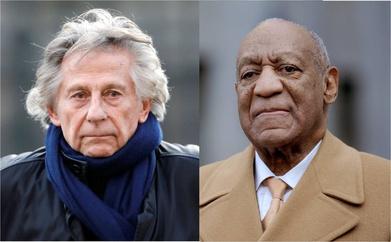 Roman Polanski (links) en Bill Cosby (rechts)
