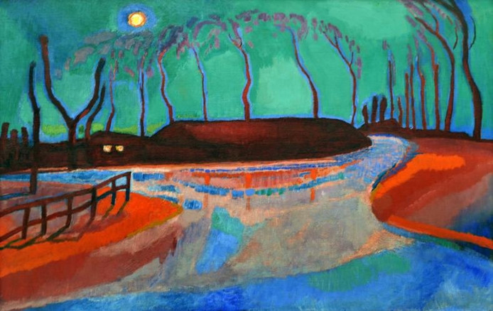 Jan Sluijters, Maannacht IV (1912), olieverf op doek. foto's Ruben Oreel