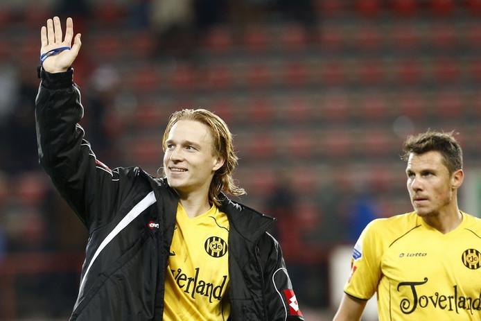 Guus Hupperts na de zege van Roda JC in Eindhoven.