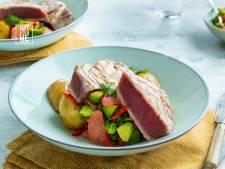 Wat Eten We Vandaag: Geschroeide tonijn met grapefruit-avocadosalsa