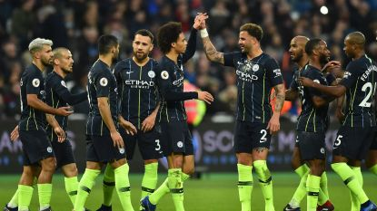 Manchester City neemt zonder Kompany op cruise control de maat van West Ham
