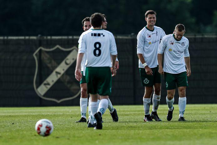 Matteo Castro, de man die scoorde namens BSC tegen NAC, uiterst rechts