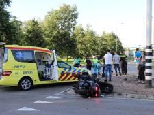 Motorrijder gewond bij aanrijding met bus