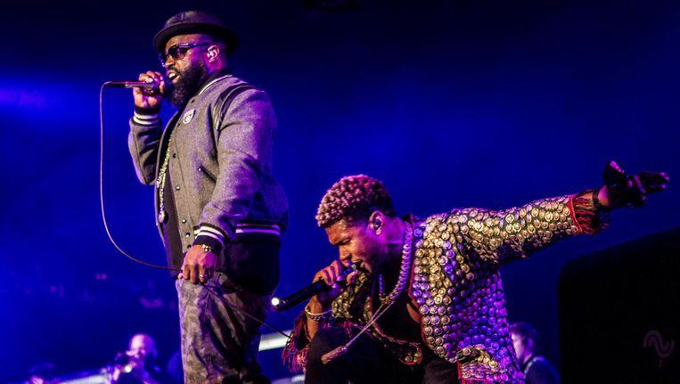 De Amerikaanse R&B- zanger, producer en acteur Usher treedt samen met The Roots op tijdens de eerste dag van North Sea Jazz in Ahoy Rotterdam. Beeld anp