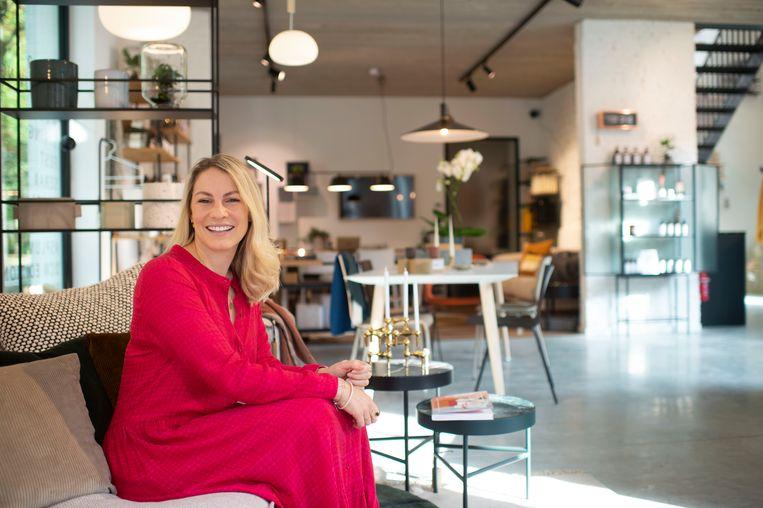 Anne-Catherine Gerets in haar winkel Tillborg