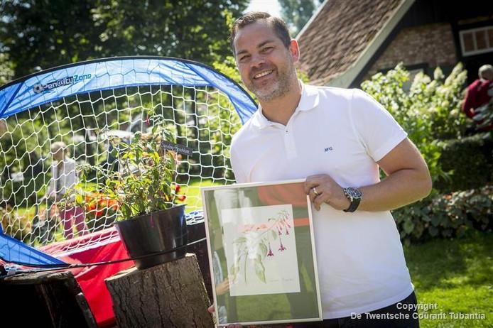 Sander Boschker met zijn fuchsia