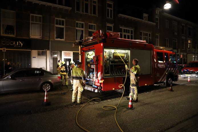 Brand in een Nijmeegse studentenwoning vrijdagavond.