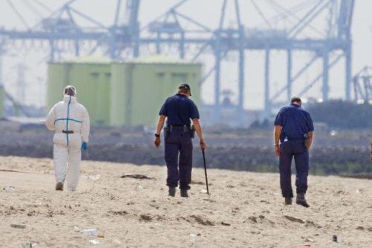 Het onderzoek naar het schietincident op het strand van Hoek van Holland. ANP Beeld