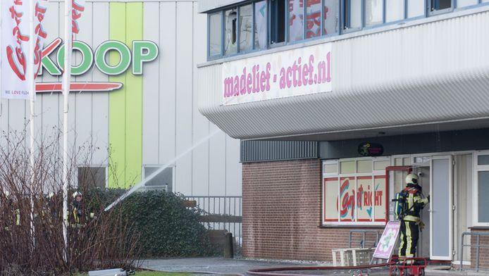 De winkel is na de brand definitief gesloten.