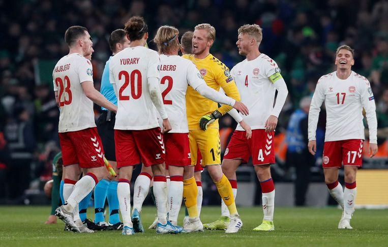 Denemarken hield nipt stand tegen Ierland en mag naar het EK.