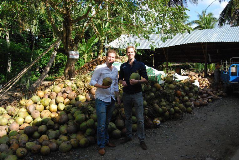 De mannen van 'kokosyoghurtmerk' Abbot Kinney's. Beeld