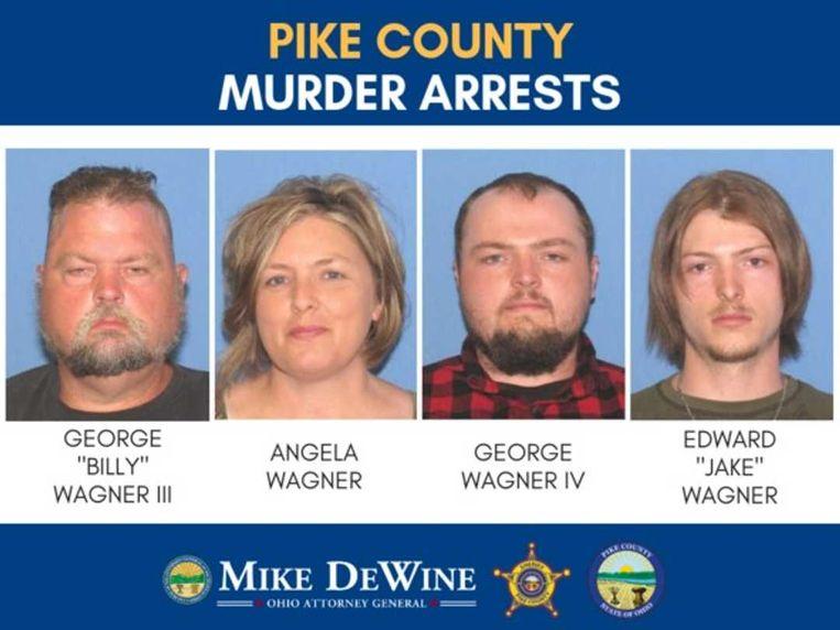 Alle vier opgepakte leden van het gezin Wagner worden beschuldigd van meervoudige moord.