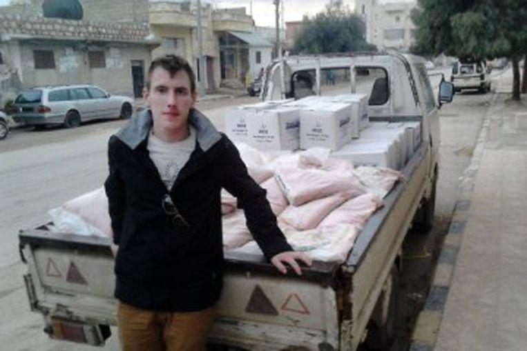 De onlangs door IS vermoorde Peter Kassig. Een van zijn beulen zou de Franse Maxime Hauchard zijn. Beeld ap
