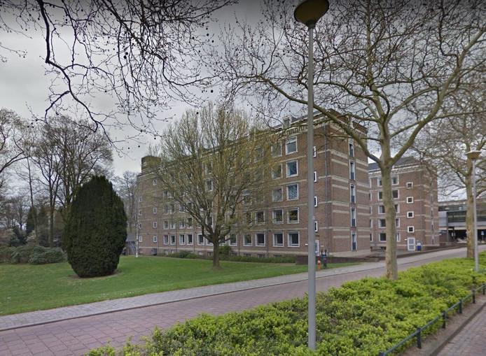 Het Transitorium aan het Geert Grooteplein in Nijmegen. Het huidige kantoorpand wordt verbouwd tot studentenflat.