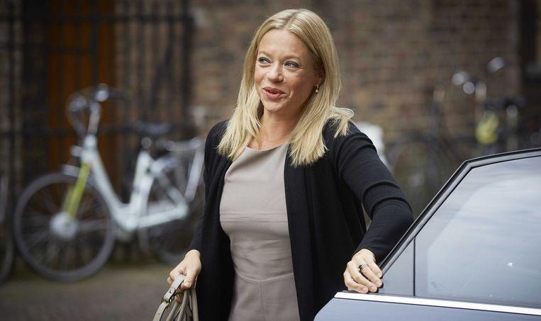 Minister van Defensie Jeanine Hennis hakt eindelijk de knoop door: Nederland koopt de JSF. Beeld ANP