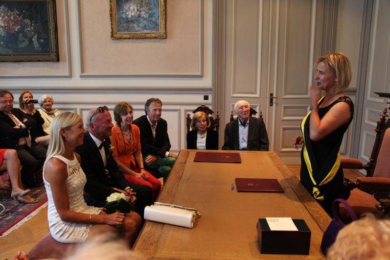 Katrien Vaes kon de voorbije jaren bij gelegenheid het sluiten van een huwelijk al eens 'oefenen'.