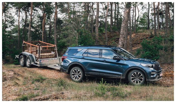 De nieuwe Ford Explorer Plug-In Hybrid kan aanhangers tot 2.500 kilo trekken