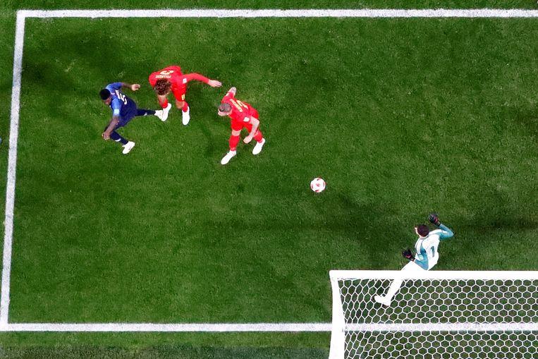 Umtiti met de goal.