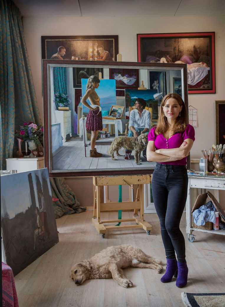 Iris Frederix, kunstenaar.  Beeld Werry Crone