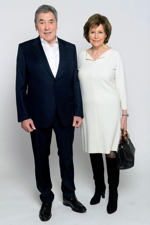Eddy Merckx en partner Claudine Acou