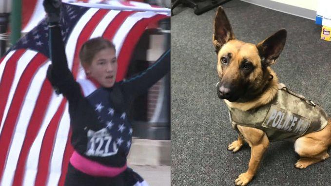 Pakkend: 12-jarig meisje loopt halve marathon voor gesneuvelde politiehond