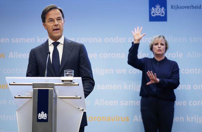 2020-09-28 18:59:23 DEN HAAG - Premier Mark Rutte tijdens een persconferentie over de huidige stand van zaken omtrent het coronavirus in Nederland. ANP PHIL NIJHUIS