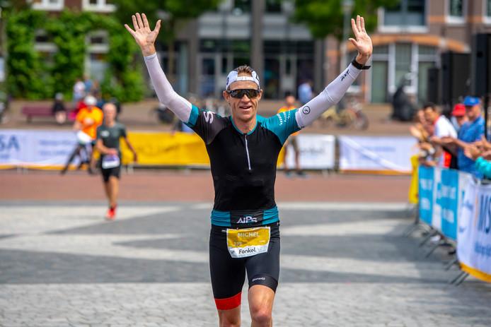 Winnaar Michel Besseling, tijdens de Marathon van Amersfoort vorig jaar.