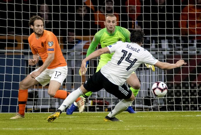 Nico Schulz beslist het EK-kwalificatieduel met Oranje.