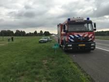 Gevatte bestuurder blust autobrand op de A1 met slootwater