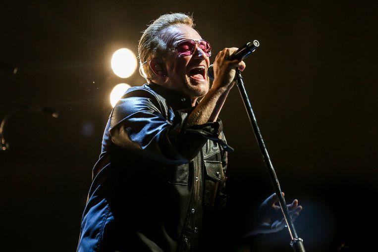Bono tijdens een optreden eerder dit jaar. Beeld AP