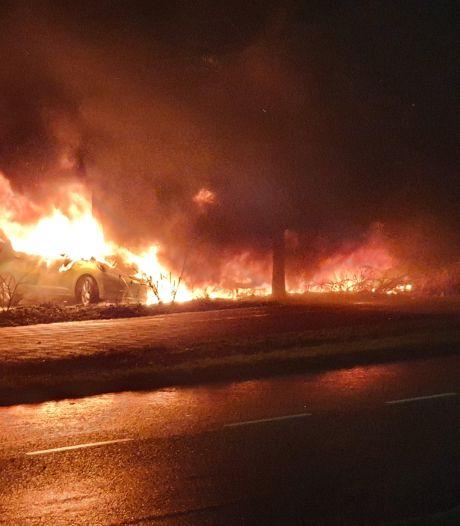 Drie auto's verwoest door brand in Culemborg