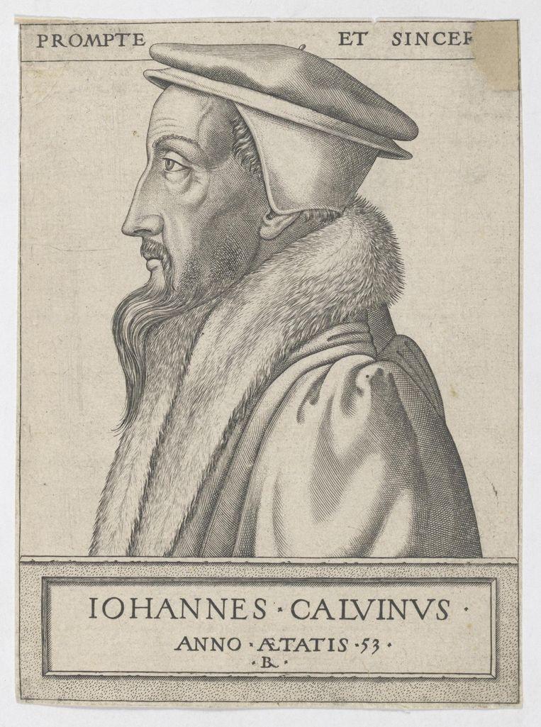 Een van Luthers volgelingen was Johannes Calvijn, hier op een gravure van René Boyvin. Beeld Wikimedia