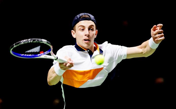 Archieffoto. Tallon Griekspoor in februari 2019 in een partij tijdens de 46ste editie van het ABN AMRO World Tennis Tournament.