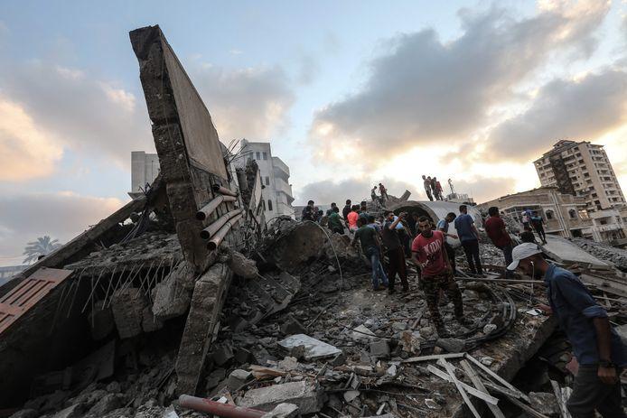 Verwoesting in Gaza-Stad na een Israëlisch bombardement in augustus vorig jaar.