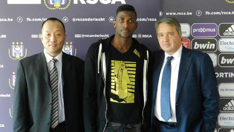 Rassoul (m) toen hij in maart voor Anderlecht tekende