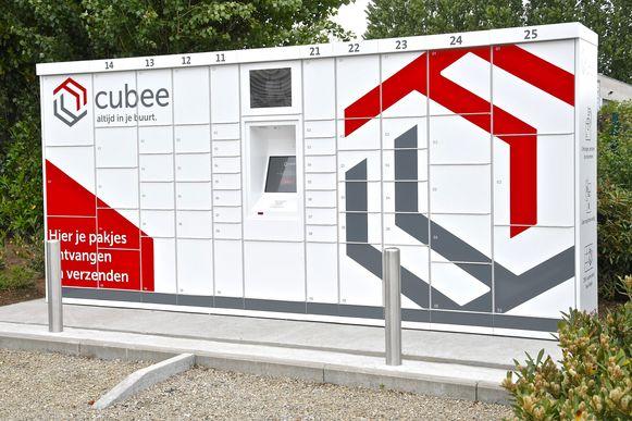 Een pakjesautomaat staat er in de Industrielaan in Menen