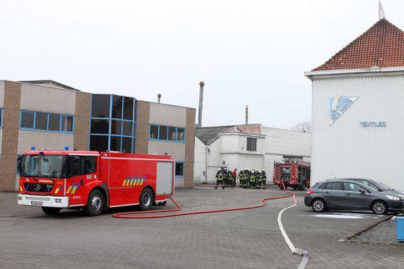 Een archiefbeeld van een een brandweerinterventie bij het bedrijf in de Heirbaan.