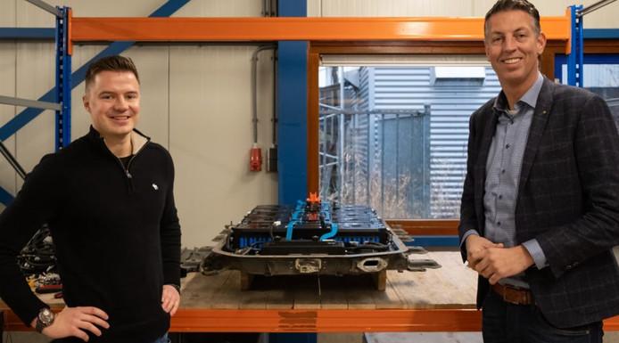 Ceo Pieter Ursem (rechts) met manager Jasper Baltus