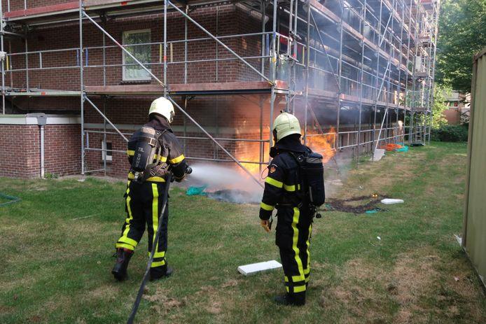Het brandje was snel onder controle.