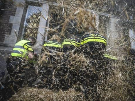Boeren aan banden bij protest in De Bilt: stro en giertanks moeten thuisblijven