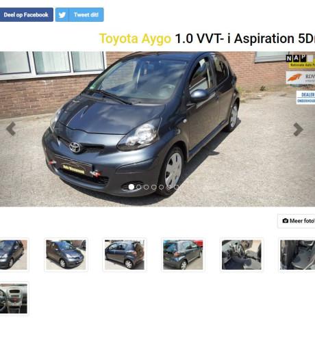 John kocht auto in Apeldoorn; ton te weinig op de teller...