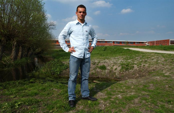 Wesley Sneijder in Leidsche Rijn op een foto uit 2004.