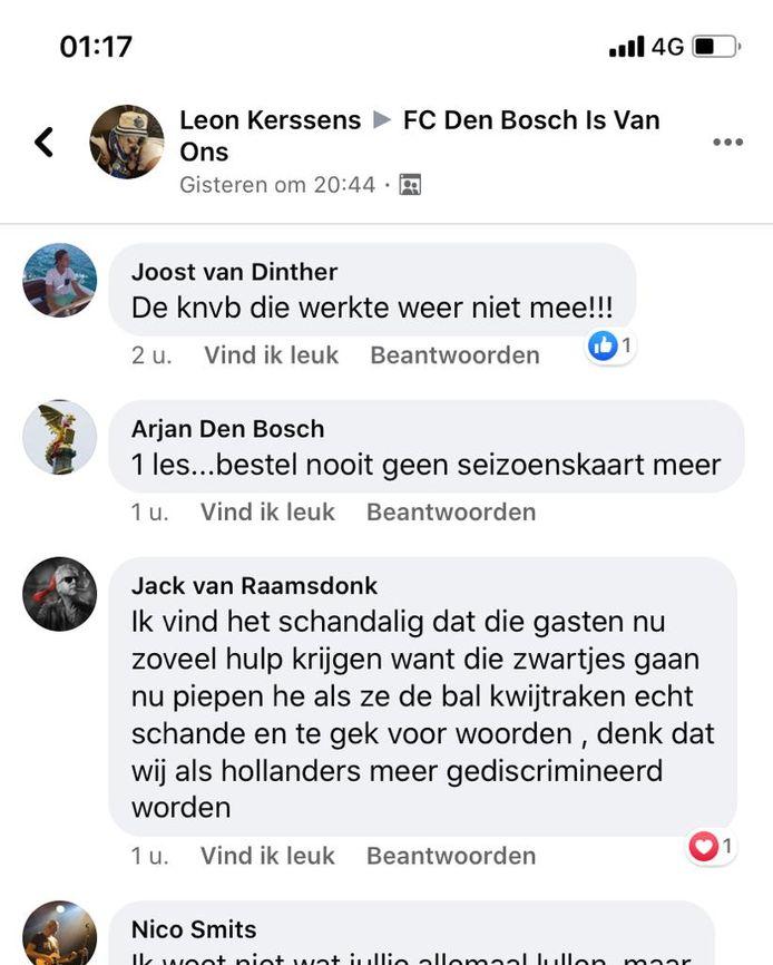 De gewraakte post die uit naam van Jack van Raamsdonk op Facebook verscheen.