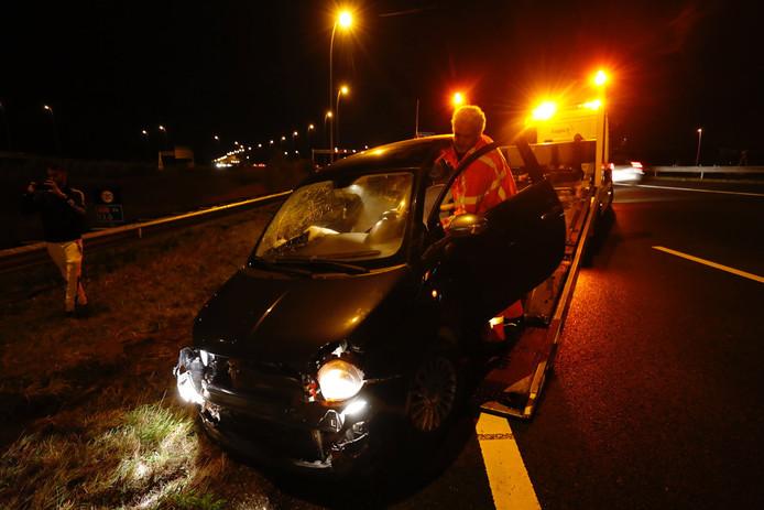 Ongeval A58 bij knooppunt Batadorp