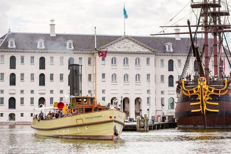 Stoomschip Christiaan Bruinings. Beeld Het Scheepvaartmuseum